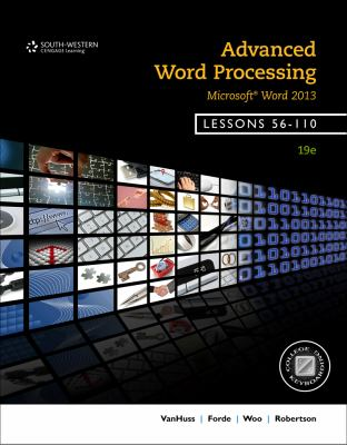 Advanced Word Processing, Lessons 56-110: Microsoft Word