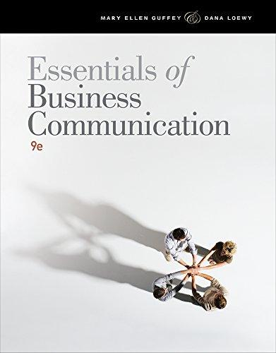 Bundle: Essentials of Business Communication (with Student Premium Website Printed Access Card), 9th + Aplia(TM) Printed Access Card