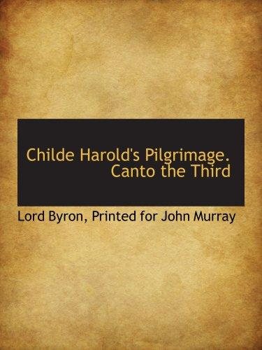 Childe Harold's Pilgrimage. Canto the Third