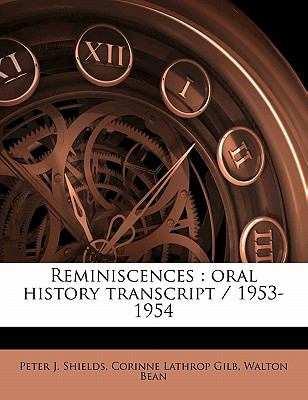 Reminiscences : Oral history Transcript / 1953-1954