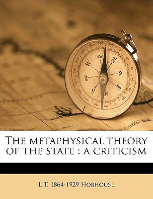 Metaphysical Theory of the State : A Criticism