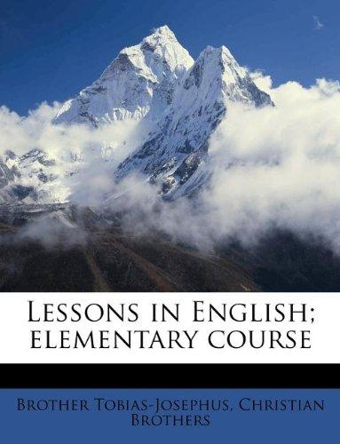 Lessons in English; elementary course