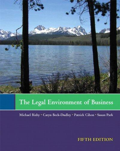The Legal Environment of Business (5th Edition)