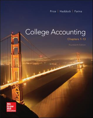 College Accounting (Chapters 1-13) with Connect Plus