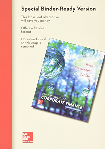 ND PURDUE UNIV WEST LAFAYETTE LL FUNDAMENTALS OF CORPORATE FINANCE; CONNECT AC