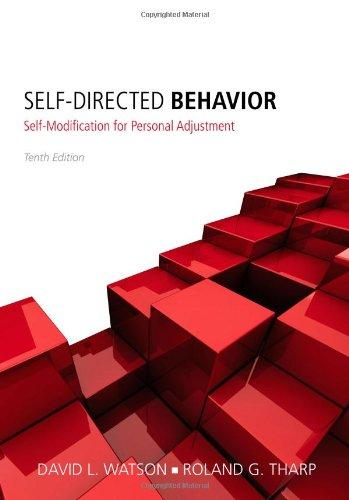self directed behavior self modification for personal adjustment pdf