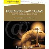 Bundle: Cengage Advantage Books: Business Law Today, The Essentials: Text and Summarized Cases, 10th + CengageNOW with Business Law Digital Video Library 1-Semester Printed Access Card