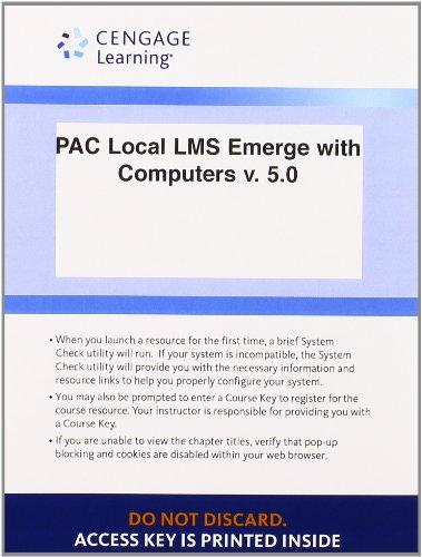 Local Learning Management System Printed Access Card for Baldauf's Emerge with Computers v. 5.0