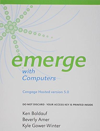 Cengage-Hosted Emerge with Computers v. 5.0 Printed Access Card (New Perspectives Series)