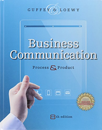 Bundle: Business Communication: Process and Product (with Student Premium Website Printed Access Card), 8th + Aplia with Cengage Learning Write Experience 2.0 Powered by MyAccess Printed Access Card