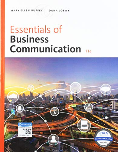 Bundle: Essentials of Business Communication, 11th + MindTap Business Communication, 1 term (6 months) Printed Access Card