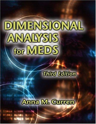 Dimensional Analysis for Meds