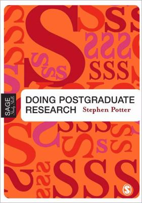 Doing Postgraduate Research (Published in association with The Open University)