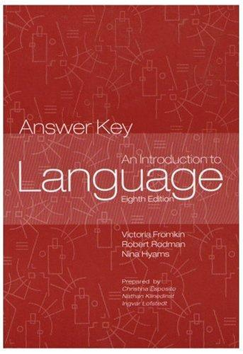 Introduction to Language - Answer Key