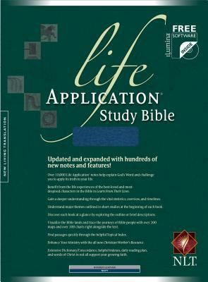 Life Application Study Bible New Living Translation, Navy, Bonded Leather