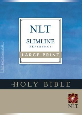 Holy Bible New Living Translation, Blue, Slimline Reference