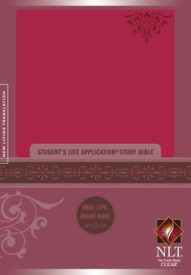 Student's Life Application Study Bible New Living Translation Version, Personal Size Bible, Leatherlike, Pink
