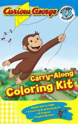 Curious George Carry-along Coloring Kit