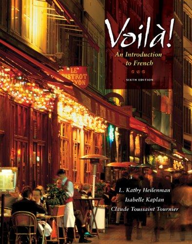 Workbook with Lab Manual for Heilenman/Kaplan/Tournier's Voila!: An Introduction to French, 6th