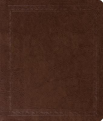 ESV Journaling Bible Bonded Leather, Mocha Threshold Design