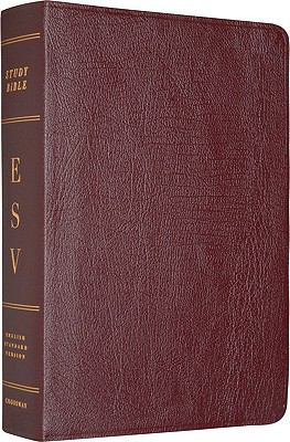 The ESV Study Bible: Genuine Leather, Burgundy