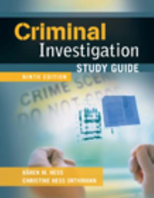 Study Guide for Criminal Investigation