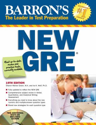 Barrons GRE with CD-ROM (Barron's Gre)