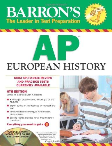 Barron's AP European History with CD-ROM, 6th Edition (Barron's AP European History (W/CD))
