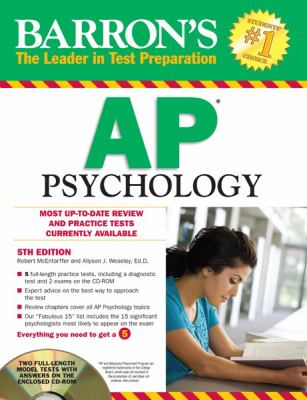 Barron's AP Psychology with CD-ROM, 5th Edition