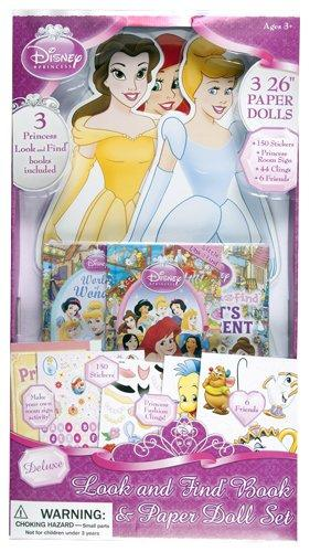 Disney Princess 26-Inch Paper Dolls, Storybooks, and Stickers