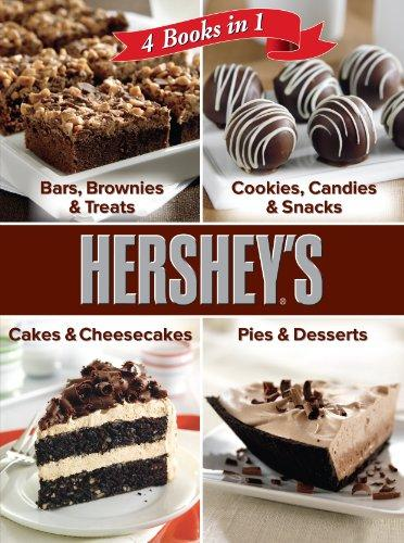 Hershey 4 Cookbooks in 1: Bars, Brownies & Treats; Cookies, Candies & Snacks; Cakes & Cheesecakes; Pies & Desserts