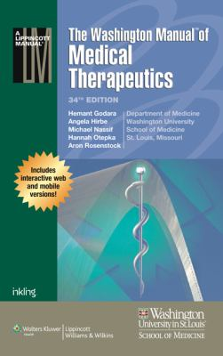 Washington Manual of Medical Therapeutics, 34e Print + Online