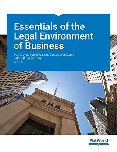 Essentials of the Legal Environment of Business
