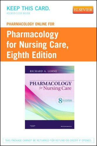 Pharmacology Online for Pharmacology for Nursing Care (Retail Access Card), 8e