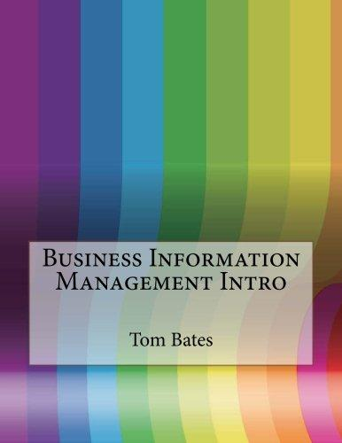 Business Information Management Intro