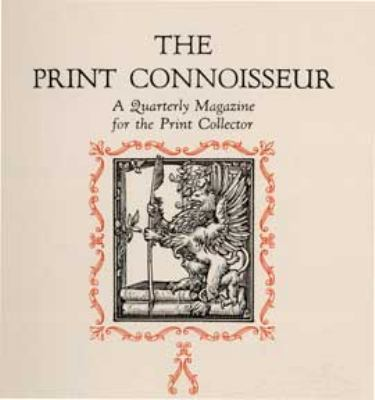 Print Connoisseur Complete Index 1920-1932