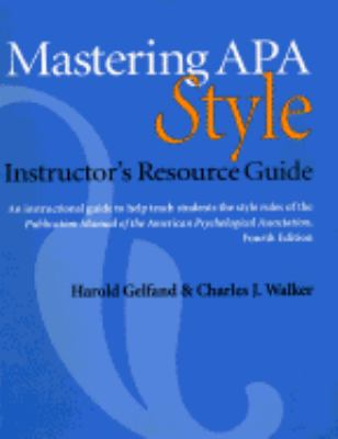 Mastering Apa Style (8th Prtg.96+later)