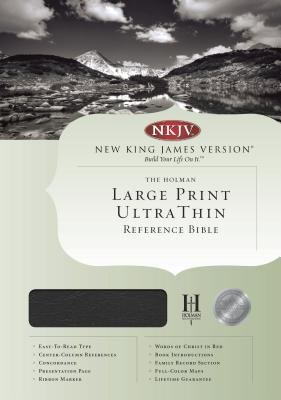 Holy Bible New King James Version Ultrathin Large Print Reference Edition Burgundy Bonded Leather