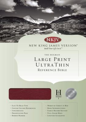 Nkjv Ultrathin Large Print Reference Bible NKJV, Ultrathin, Large Print, Reference, Thumb Indexed, Black Genuine Leather
