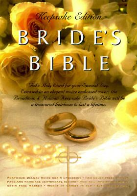 Holy Bible King James Version Bride's Keepsake White, Moire, Gold Embossing