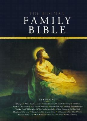 Holman Family Bible King James Version, White Bonded Leather, Padded