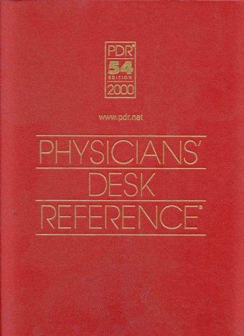 Physicians' Desk Reference 2000 (Physicians' Desk Reference (Pdr))