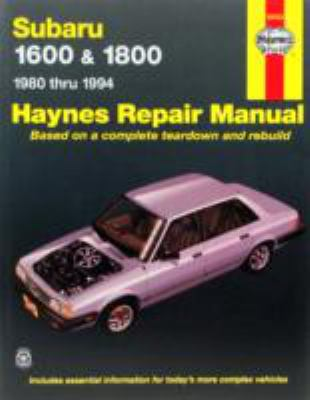 Subaru 1600 & 1800 1980 thru 1994 (Haynes Repair Manuals)