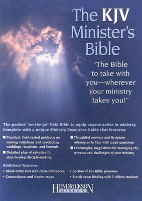 Holy Bible King James Version Minister's, Black, Genuine Leather