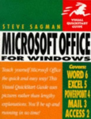 Microsoft Office for Windows (Visual QuickStart Guide) - Stephen W. Sagman - Paperback