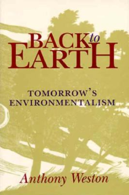 Back to Earth Tomorrow's Environmentalism