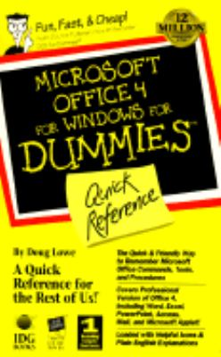 Microsoft Office 4 for Windows for Dummies - Doug Lowe - Other Format