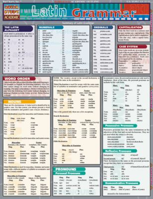 Latin Grammar (Quickstudy: Academic)