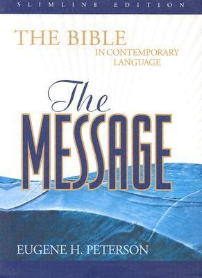 Message the Bible in Contemporary Language Genuine Leather/Dark Navy/Slimline Edition