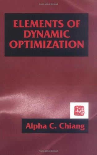 Elements of Dynamic Optimization